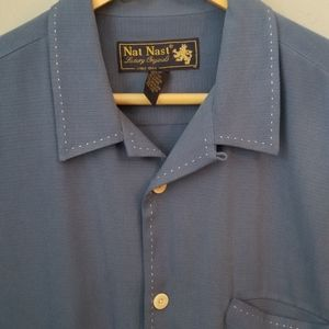 Nat Nasr Luxury Originals Silk Button Up Shirt